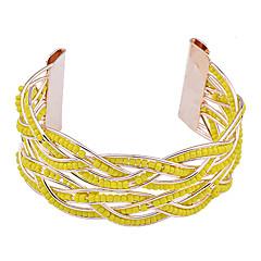 preiswerte Armbänder-Damen Manschetten-Armbänder - Harz, vergoldet Armbänder Orange / Gelb / Blau Für Party Alltag Normal