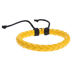 Χαμηλού Κόστους Βραχιόλια-Γυναικεία Βραχιόλια με Αλυσίδα & Κούμπωμα Μοναδικό Μοντέρνα Ύφασμα Κοσμήματα Βυσσινί Κίτρινο Κοσμήματα Για Αθλητικά 1pc