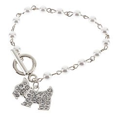 preiswerte Armbänder-Damen Bettelarmbänder - Perle Hunde, Tier Armbänder Silber Für Hochzeit