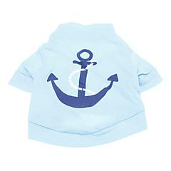 halpa Koirien vaatteet ja tarvikkeet-Koira T-paita Koiran vaatteet Merimies Sininen Puuvilla Asu Lemmikit Miesten Loma Muoti