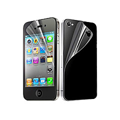 abordables Protectores de Pantalla para iPhone 4s / 4-Protector de pantalla Apple para iPhone 6s Plus iPhone 6 Plus iPhone 4s/4 PET 5 piezas Protector de Pantalla Posterior y Frontal Ultra