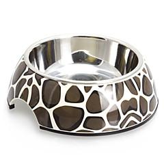 halpa Kissan Tarvikkeet-Sepeli Pattern Melamiini Shell Pet Stainless Steel Food Bowl Koirat kissat (S-XL)