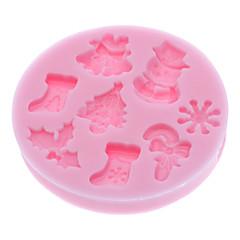 베이킹 몰드 만화 모양 케이크에 대한 / 쿠키에 대한 / 파이 실리콘 친환경적인 / 크리스마스 / DIY / 3D