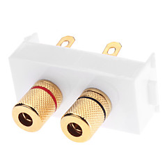 cheap Home Theater Speaker Systems-High Quality Banana Binding Post Wall Plate With High Quality Gold Plated for Speakers