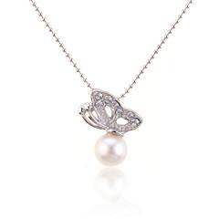 preiswerte Halsketten-Damen Perle Anhängerketten / Perlenkette - Perle damas, Modisch Weiß Modische Halsketten Schmuck Für Alltag