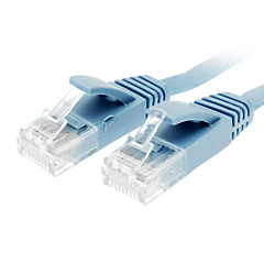 Cat 6 Male to Male Network Cable Flat Type Blue(10M)