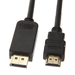 preiswerte Kabel & Adapter-Displayport Stecker auf HDMI V1.3 Stecker Kabel (1M)