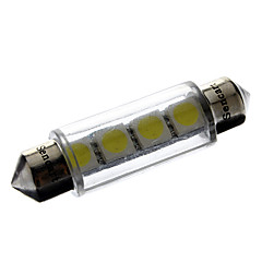 cheap LED Car Bulbs-Festoon Car White 1W SMD 5050 6000-6500 Reading Light License Plate Light