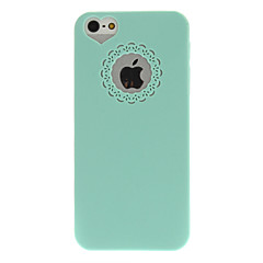 abordables Fundas para iPhone 5S / SE-Funda Para iPhone 5 / Apple Funda iPhone 5 En Relieve Funda Trasera Color sólido Dura ordenador personal para iPhone 5