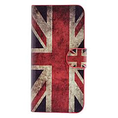 Mert iPhone 5 tok Kártyatartó / Flip Case Teljes védelem Case Zászló Kemény Műbőr iPhone SE/5s/5