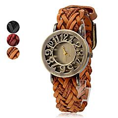 Dames Modieus horloge Kwarts Leer Band Bohémien Zwart Rood Bruin Zwart Bruin Rood