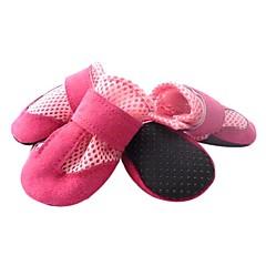 abordables Accesorios Mascota-Perro Zapatos y Botas Mantiene abrigado Un Color Negro Rojo Azul Rosa Para mascotas
