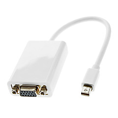 Thunderbolt Male to VGA Female Cable White for MacBook Air/MacBook Pro/iMac/Mac Mini (0.3M)
