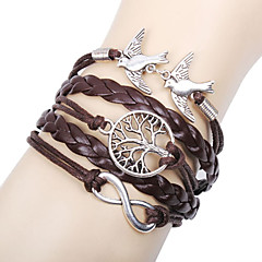 cheap Bracelets-Women's Leather Infinity Charm Bracelet Leather Bracelet Wrap Bracelet - Personalized Basic Friendship Infinity LOVE Brown Bracelet For
