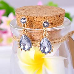 Mujer Pendientes colgantes Elegant Moda Joyería de Lujo Europeo Piedras preciosas sintéticas Diamante Sintético Legierung Gota Joyas Para