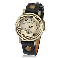 olcso hu_Leopard Watches-Férfi Kvarc Divatos óra Hot eladó PU Zenekar Vintage Matt fekete Fekete