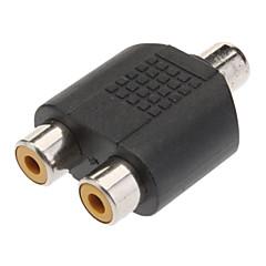 1 à 2 RCA femelle Prise AV Splitter Adapter