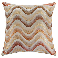 "18"" Square Multicolored Geometric Curves Polyester Decorative Pillow Cover"