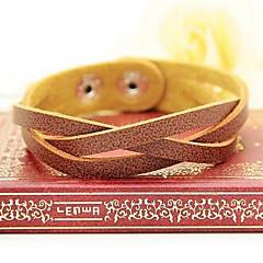 preiswerte Armbänder-Damen Lederarmbänder - Leder Einzigartiges Design, Modisch Armbänder Schmuck Braun / Rot / Grün Für Party Alltag