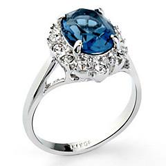 anillos de cristal del azul real de las mujeres clásicas (azul real) (1 pc)