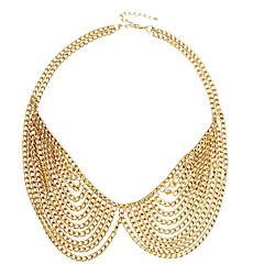 Недорогие Женские украшения-(1 шт) мода золотой сплав воротник ожерелье (золото)