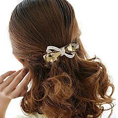 baratos Acessórios para Cabelos-Mulheres Elegant Strass Liga Presilha de Cabelo - Flor