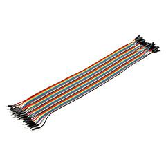 billige Konnektorer og terminaler-40pin 1P-1P Mand til Kvinde Dupont Linje Farverige Dupont Wire (30cm)