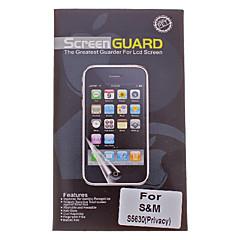 Privacy Anti-Spy della protezione dello schermo Schermo Pellicola per Samsung S5630