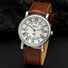 preiswerte Tolle Angebote auf Uhren-Herrn Armbanduhr Quartz Schwarz / Braun Analog Weiß Schwarz