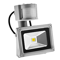 رخيصةأون أضواء خارجية-بير 10 واط 900lm استشعار الحركة في الهواء الطلق ليلة الليل 6000 كيلو بارد الأبيض ضوء أدى الفيضانات ضوء (ac85-265v)