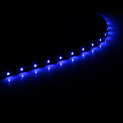 abordables Tiras LED Flexibles-0.5m Tiras LED Flexibles 15 LED 1210 SMD Blanco / Azul Adecuadas para Vehículos / Auto-Adhesivas 12 V 1pc
