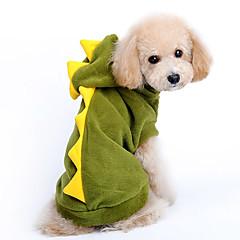 Câine Costume Hanorace cu Glugă Îmbrăcăminte Câini Draguț Cosplay Desene Animate Rosu Verde Costume Pentru animale de companie