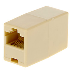 tanie Kabel Ethernet-RJ45 Female Adapter Beige do kobiet