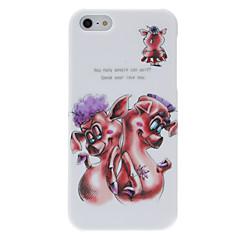 Для Кейс для iPhone 5 С узором Кейс для Задняя крышка Кейс для Животный принт Твердый PC iPhone SE/5s/5