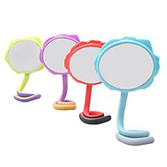お買い得  鏡-エレガントなフラワーロータリーデスクトップ化粧鏡