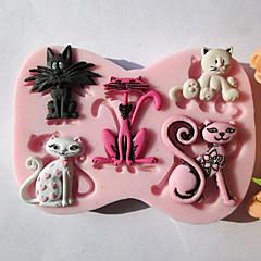 baratos -Moldes de bolos Chocolate Biscoito Bolo Silicone Amiga-do-Ambiente