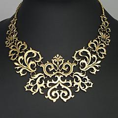 Kadın's Açıklama Kolye Çiçek alaşım Vintage Avrupa Mücevher Uyumluluk Parti Doğumgünü