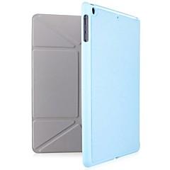 tanie iPad Air: Etui/Pokrowce-Kılıf Na iPad Air Z podpórką Origami Pełne etui Solid Color prawdziwa skóra na iPad Air