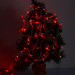 cheap LED & Lighting Accessories-10m String Lights 100 LEDs Red Decorative / Linkable 220-240 V