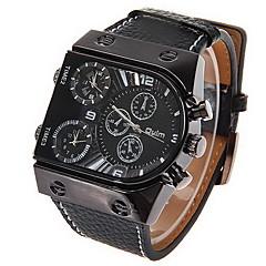 preiswerte Tolle Angebote auf Uhren-Oulm Militäruhr Armbanduhr Sender Duale Zeitzonen Schwarz / Zwei jahr / Zwei jahr / SOXEY SR626SW