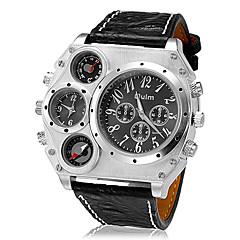 preiswerte Tolle Angebote auf Uhren-Oulm Militäruhr Armbanduhr Sender Thermometer, Duale Zeitzonen, Cool Schwarz / Braun / Zwei jahr / Zwei jahr / SOXEY SR626SW