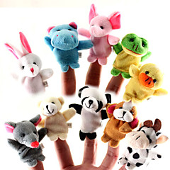 cheap Special Deals-Animal For Bedtime Stories Finger Puppets Puppets Cute Lovely Cartoon Textile Silicone Plush Girls' Gift 10pcs