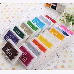 Tecknad Färgglada plast Ink Pad (4 paket) (Random färg)