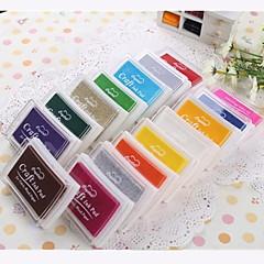 Cartoon Colorful Plastic Ink Pad(4 Package)(Random Color)