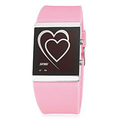 Γυναικεία Μοδάτο Ρολόι Ψηφιακό LED σιλικόνη Μπάντα Heart Shape Μαύρο Λευκή Μπλε Ροζ Rose