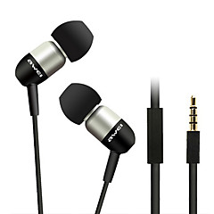 ESQ8i-awei Super Bass in-ear oortelefoon met microfoon en afstandsbediening voor Mobilephone/PC/MP3