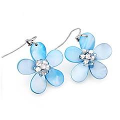 Χαμηλού Κόστους Γυναικεία Κοσμήματα-Σκουλαρίκι Κρεμαστά Σκουλαρίκια Κοσμήματα Γάμου / Πάρτι / Καθημερινά / Causal / Αθλητικά Cowry / Γυαλί Γυναικεία Κίτρινο / Μπλε