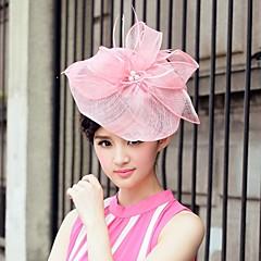 Недорогие Женские украшения-лен и тюль свадьбы / особому случаю / случайные шляпы с бантом (больше цветов)