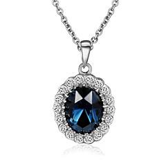 preiswerte Halsketten-Kristall Anhängerketten - Krystall, vergoldet Rot, Grün, Blau Modische Halsketten Für Hochzeit, Party, Alltag