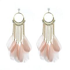 voordelige Oorbellen-Dames Strass Gesimuleerde diamant Druppel oorbellen Ring oorbellen - Luxe Cirkelvorm Veer oorbellen Voor Bruiloft Feest Dagelijks